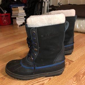 L.L. Bean Fur Trimmed Snow Boots